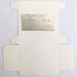 packaging braille astucci farmaceutici